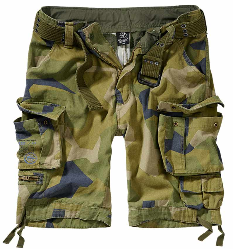 2001125 Savage Shorts Swedisch camo M90 Brandit