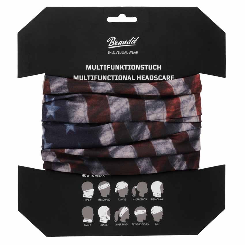 7016-233 Multifunctional Head scarf Us Flag Brandit