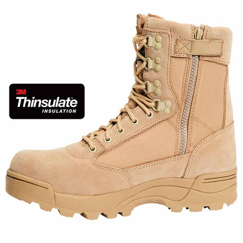 Brandit Tactical Zipper Boots Camel