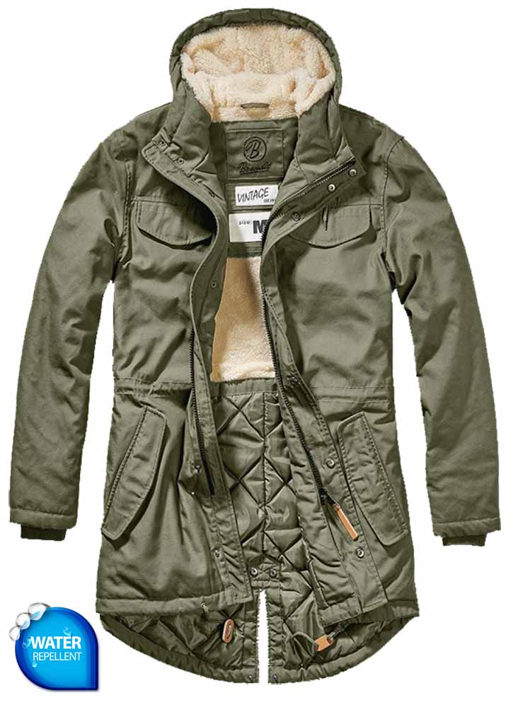 (94421) Marsh Lake TeddyParka Brandit Olive TattooFashion