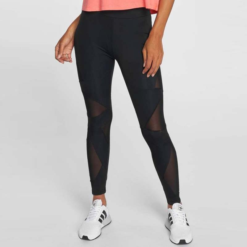 TB1938 Black Leggings Triangle Mesh Urban Classics