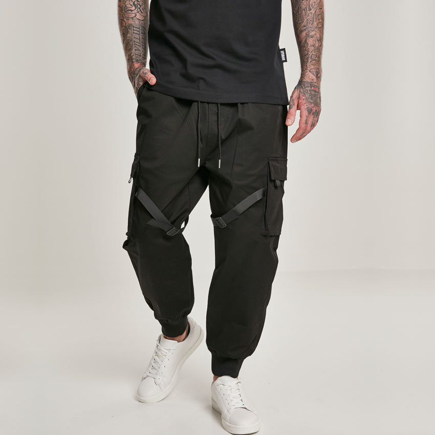 Urban Classics Black Cargo Tactical Jogging Trouser