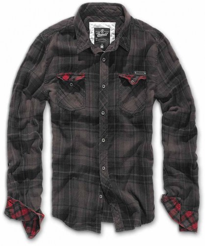 checkshirt duncan brown black