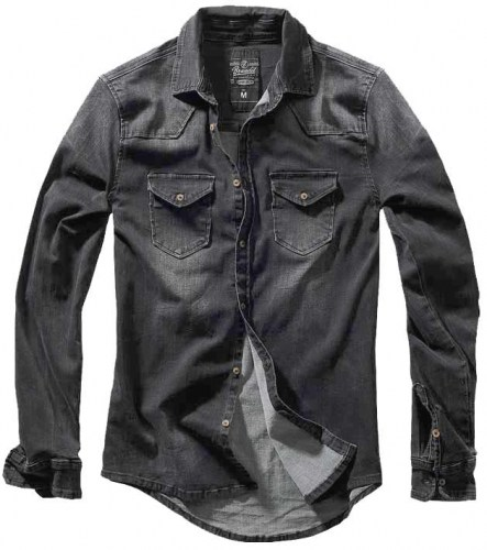 40202-Brandit-Riley-Denim-Shirt-Black