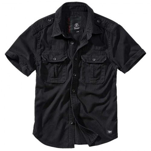 Brandit Vintage Denim Black shortsleeve shirt