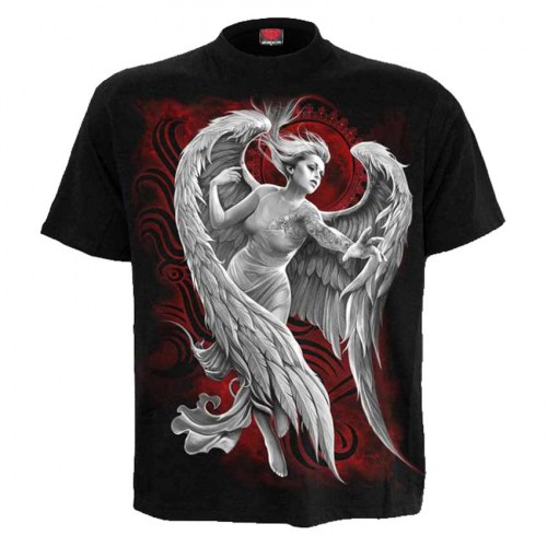 DS261600 Tshirt Angel despair Black SpiralDirect