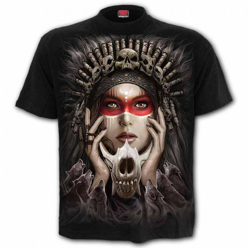 TR462601 Tshirt Cry of the wolf Black SpiralDirect