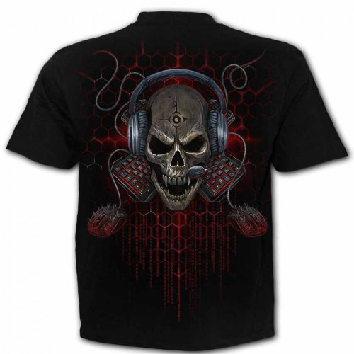 TR464600 Tshirt Pc Gamer Black SpiralDirect
