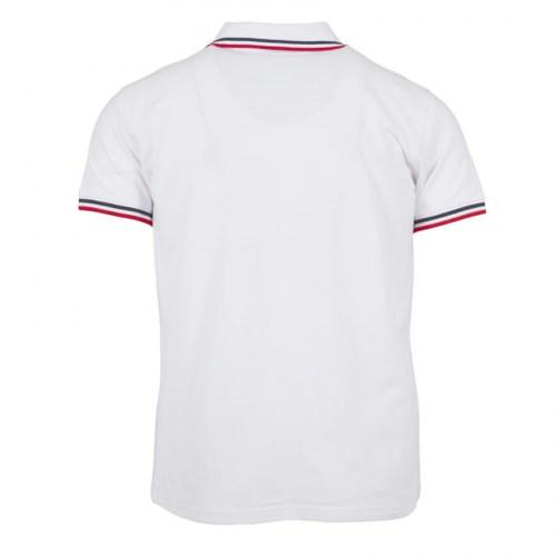 Tshirt Polo Double Stripe white-red