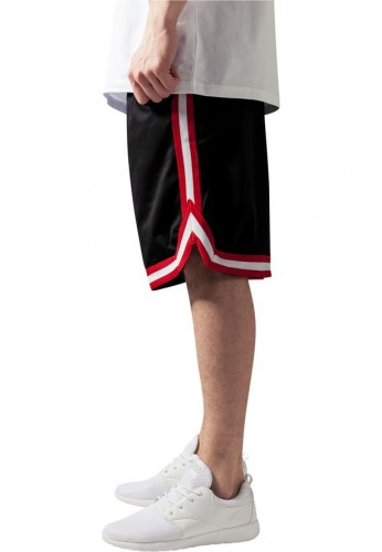 TB243 Stripes mesh Black/Red Shorts Urban Classics