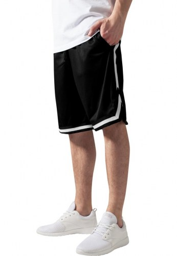 TB243 Stripes mesh Black/White Shorts Urban Classics
