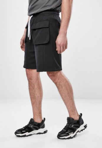 TB3668 Terry Big Pocket Black Sweat Shorts Urban Classics