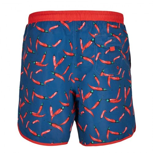 TB3706 Swimshort Retro Pattern Pepperoni Urban Classics